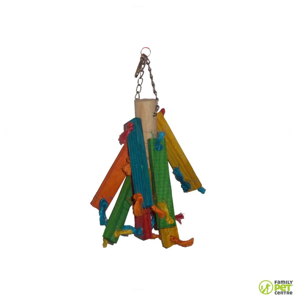 Birrdeez Parakeet Wood Toy 1
