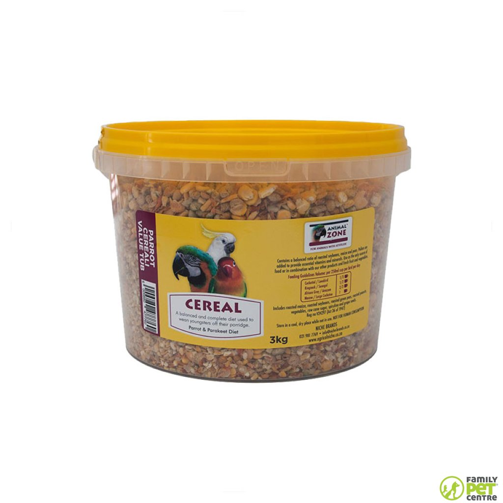 Animal Zone Parrot Cereal Value Tub