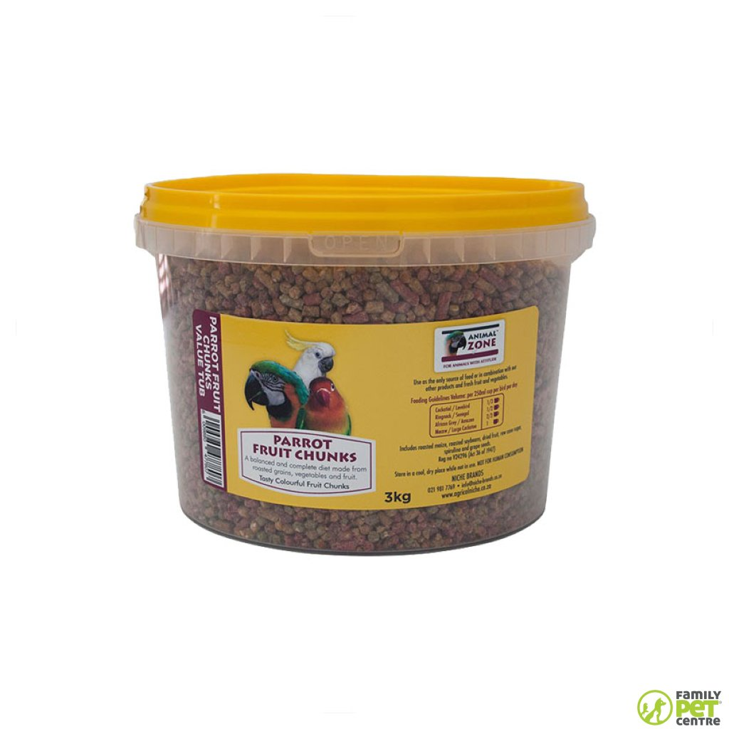Animal Zone Parrot Fruit Chunks Value Tub