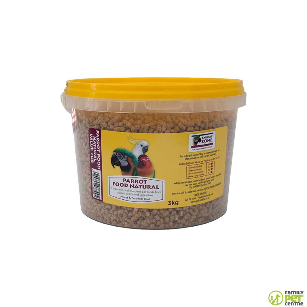 Animal Zone Parrot Natural Food Value Tub