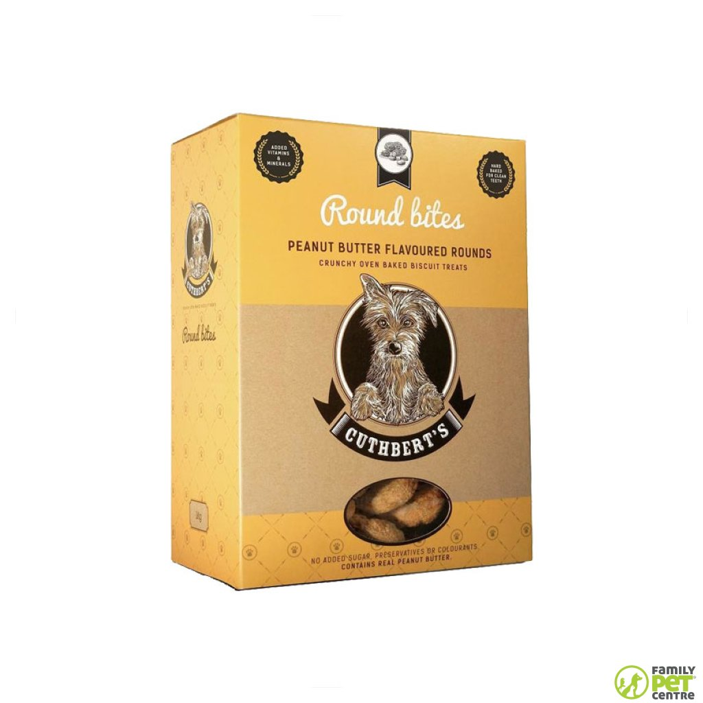 Cuthberts Peanut Butter Round Dog Biscuits