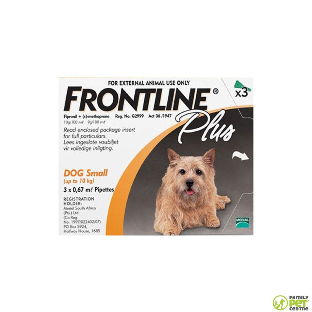 Frontline Plus for Dogs Tick & Flea Spot On Treatment 3pack