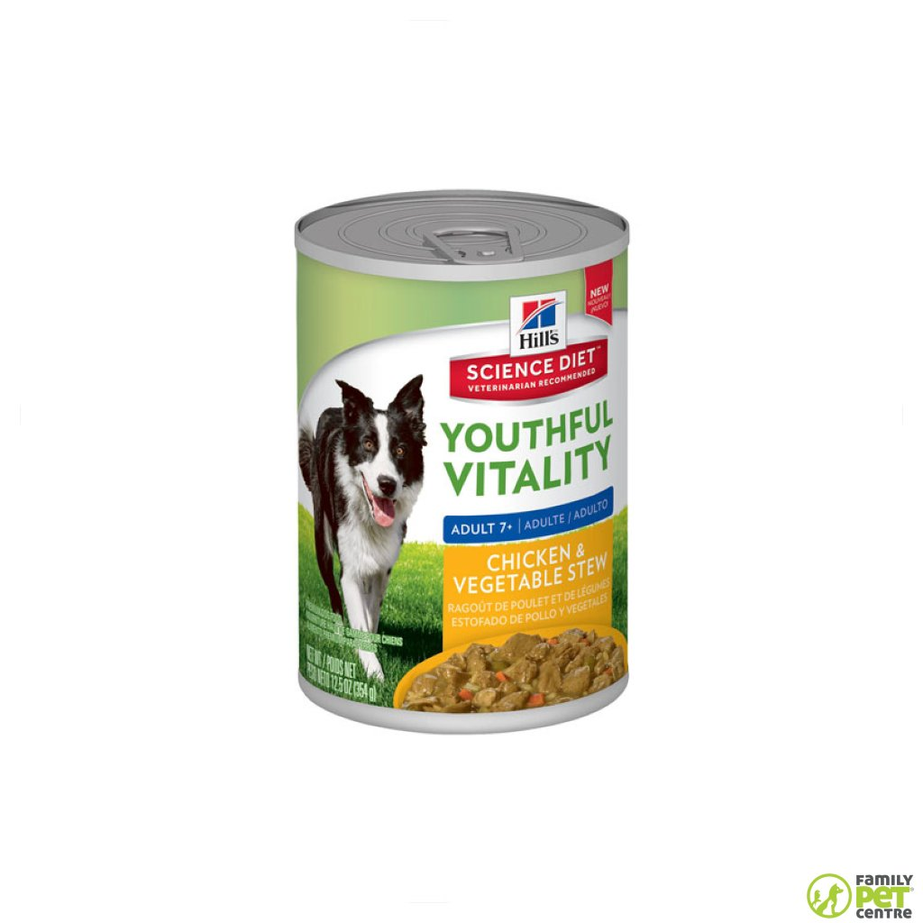 Hills Science Plan Adult 7+ Youthful Vitality Wet Dog Food Can