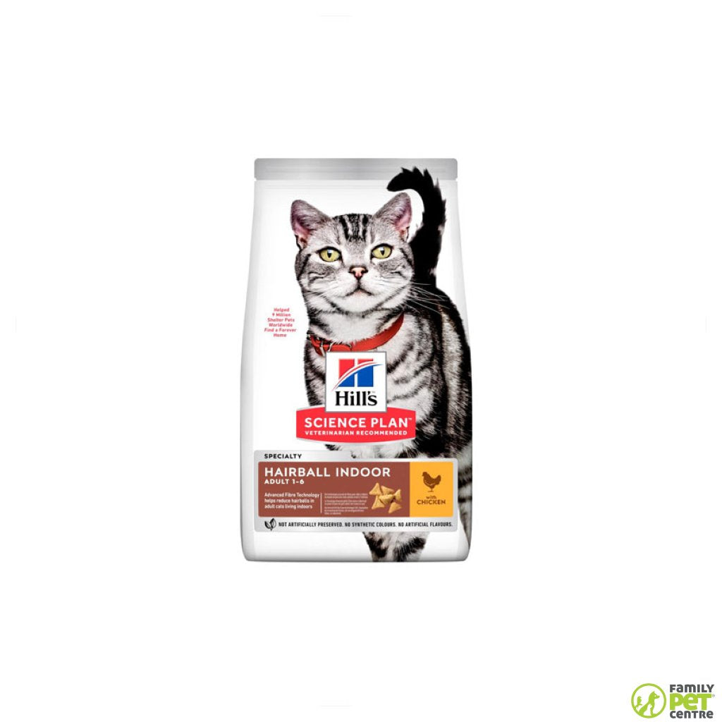 Hills Science Plan Adult Indoor Hairball Control Cat Food