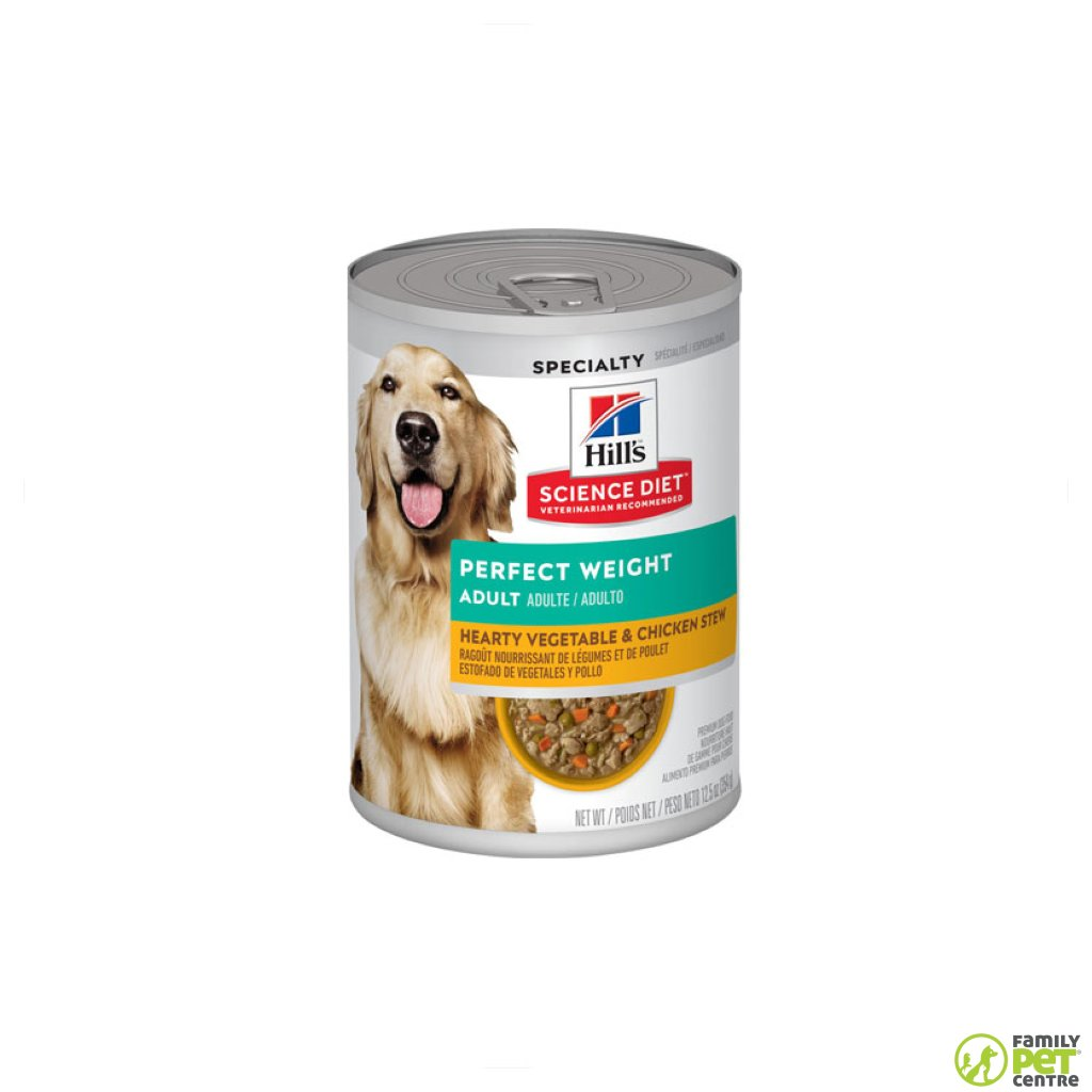 Hills Science Plan Adult Perfect Weight Wet Dog Food Can