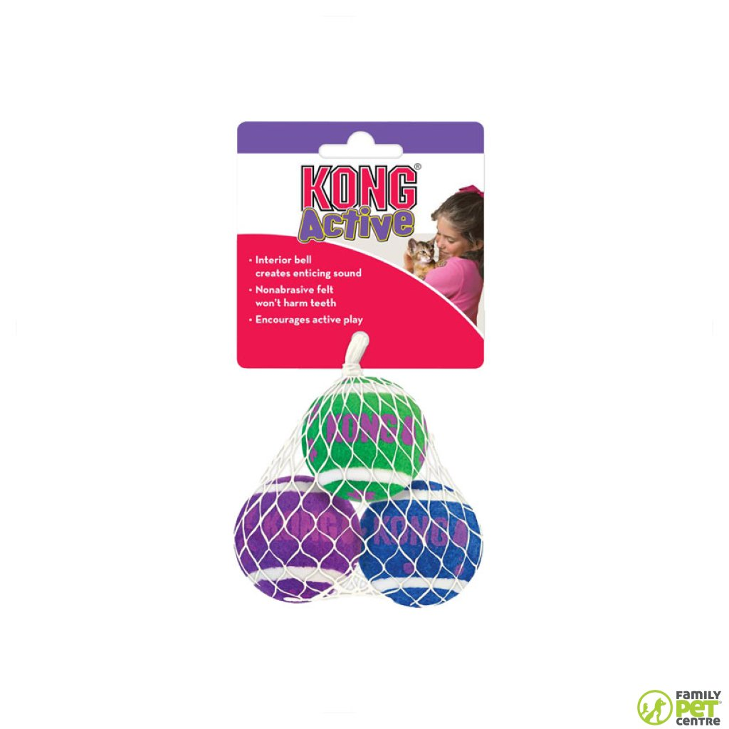 Kong Tennis Ball With Bell 3pk