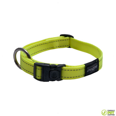 Rogz Utility Reflective Stitching Side Release Dog Collar