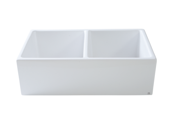 Double Fireclay Kitchen Sink