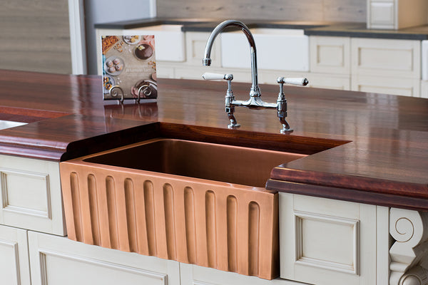 Copper Apron Farmhouse Sink