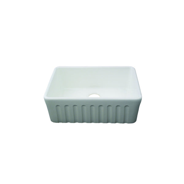 Fluted Ceramic Kitchen Sink