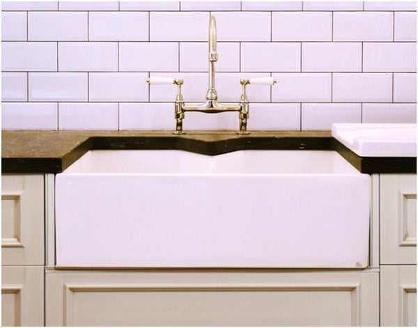 Fireclay Double Butler Sink