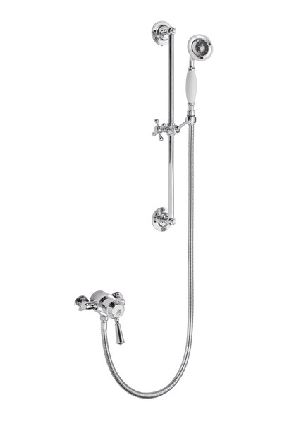 Traditional Shower With Flexible Kit - Metal Lever