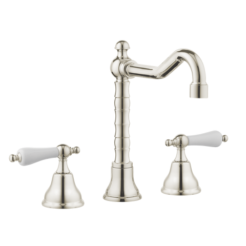 Traditional Kitchen Tap - English Spout - Porcelain Lever