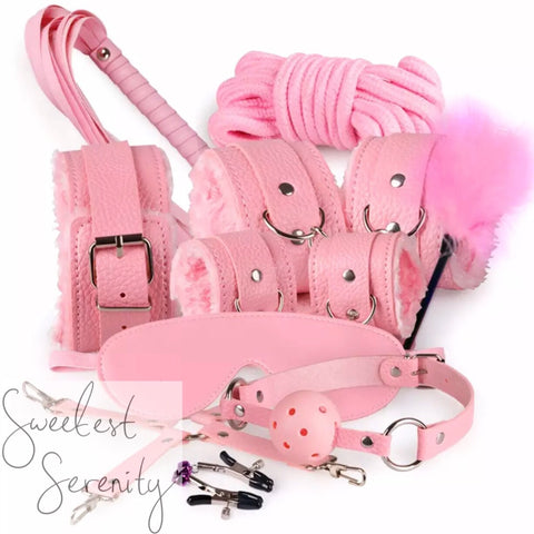 14pc Pink Bondage Set