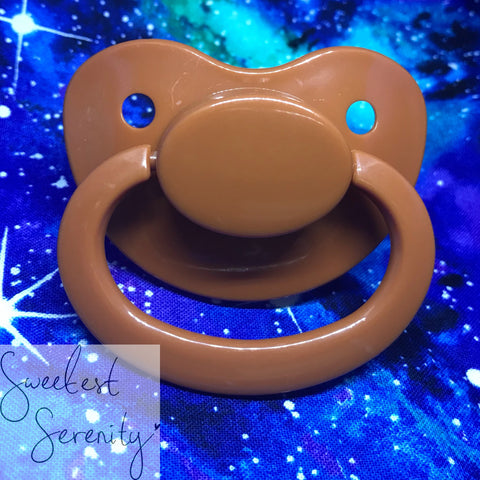 Brown Plain Pacifier