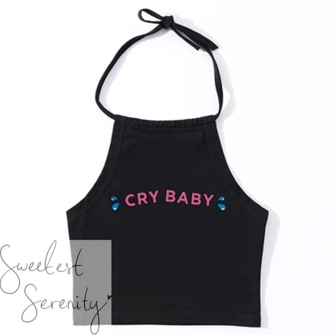 Cry Baby Halter Top (2 Colors)