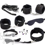 11pc Black Bondage Set