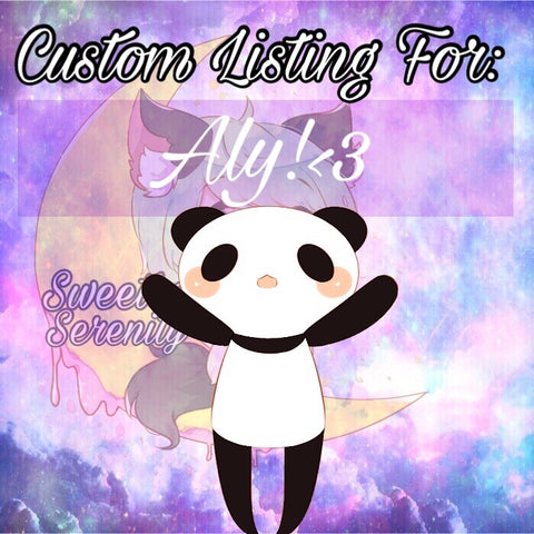 Custom Listing for Aly!