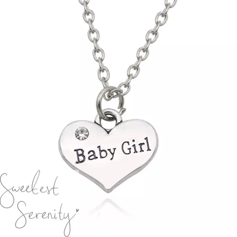 Baby Girl Heart Necklace