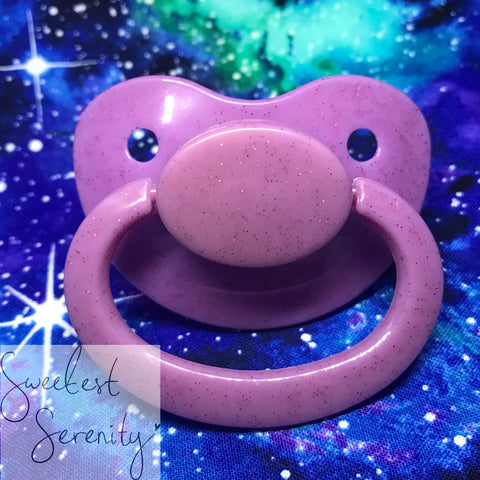 Lilac Glitter Pacifier