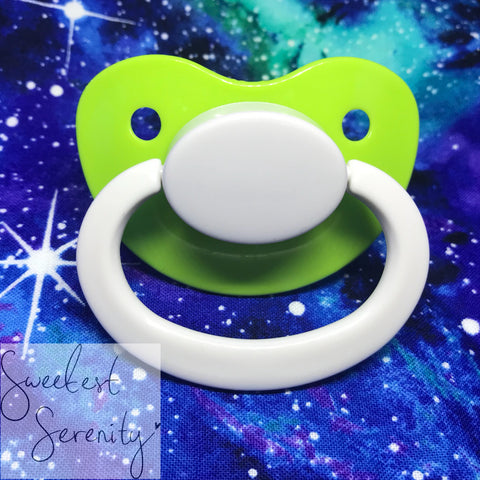 Lime Plain Pacifier