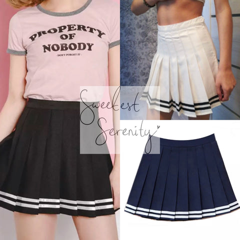 Stripe Skirt (3 Colors)