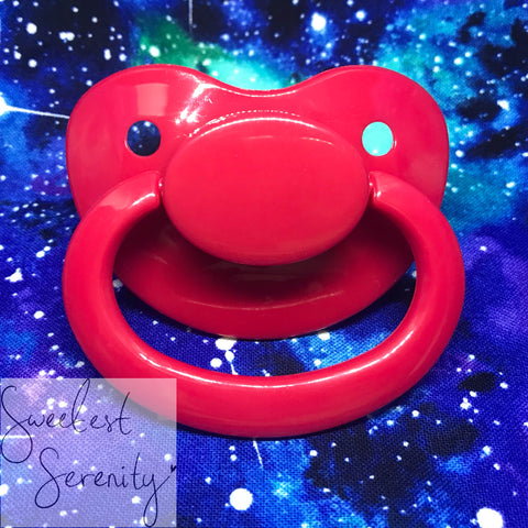 Red Plain Pacifier