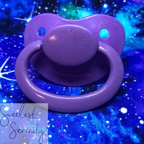 Orchid Glitter Pacifier