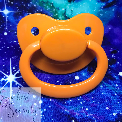 Orange Plain Pacifier