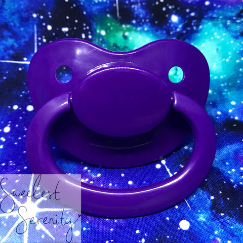 Purple Plain Pacifier