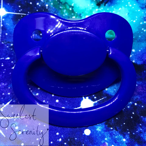 Navy Plain Pacifier