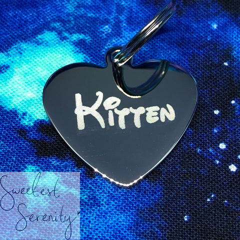 Stainless Steel Heart Tag