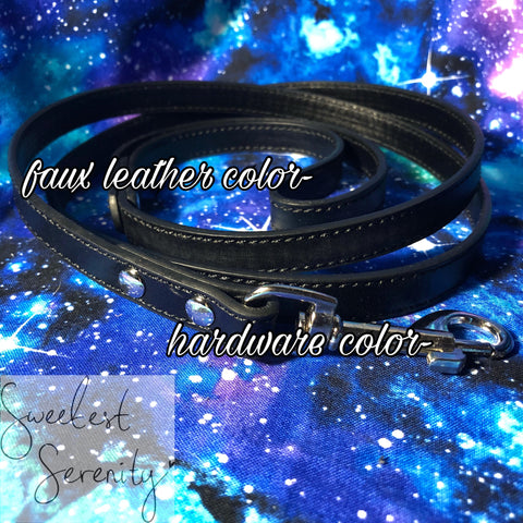 BYO Faux Leather Leash
