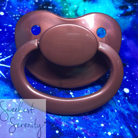 Coffee Metallic Pacifier
