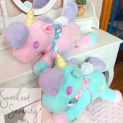 LTS Unicorn Tissue Box Stuffie