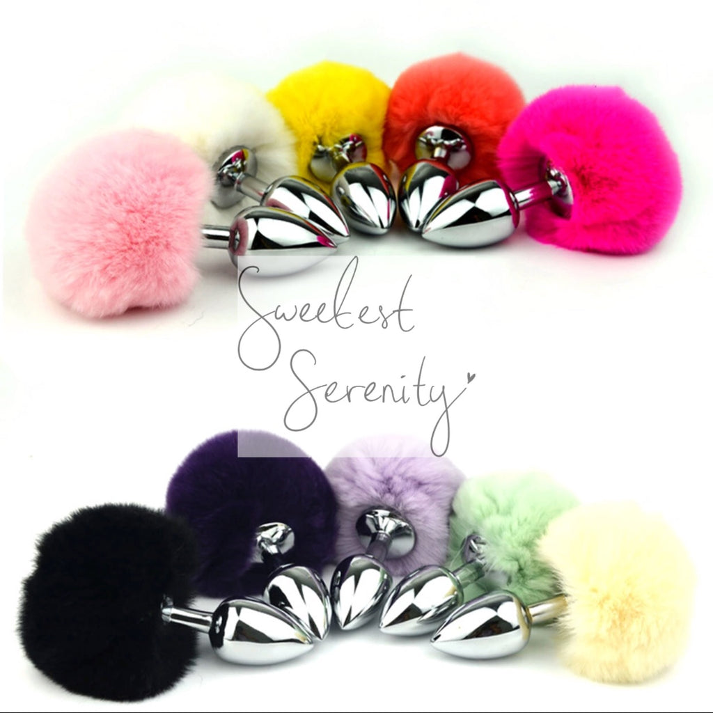 bunny tail butt plug – sweetest serenity