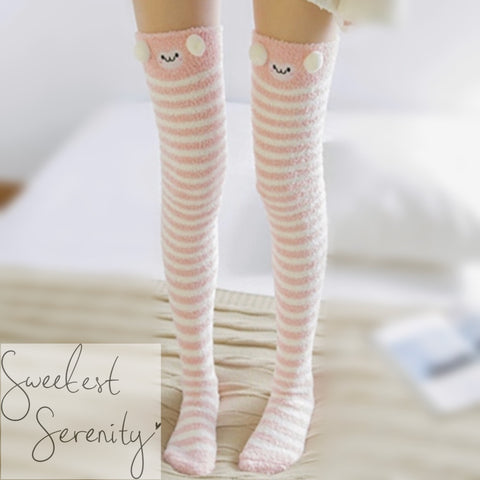 Pink Sheep Fluffy Socks