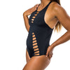 ONE PIECE REVERSIBLE BLACK - B&W MARBLE