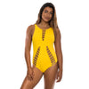 ONE PIECE YELLOW RIBBED