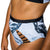 HIGH SURF BIKINI REVERSIBLE BOTTOM BLACK/B&W MARBLE