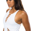 ONE PIECE WHITE RIBBED