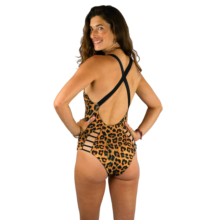 ONE PIECE REVERSIBLE LEOPARD / BLACK