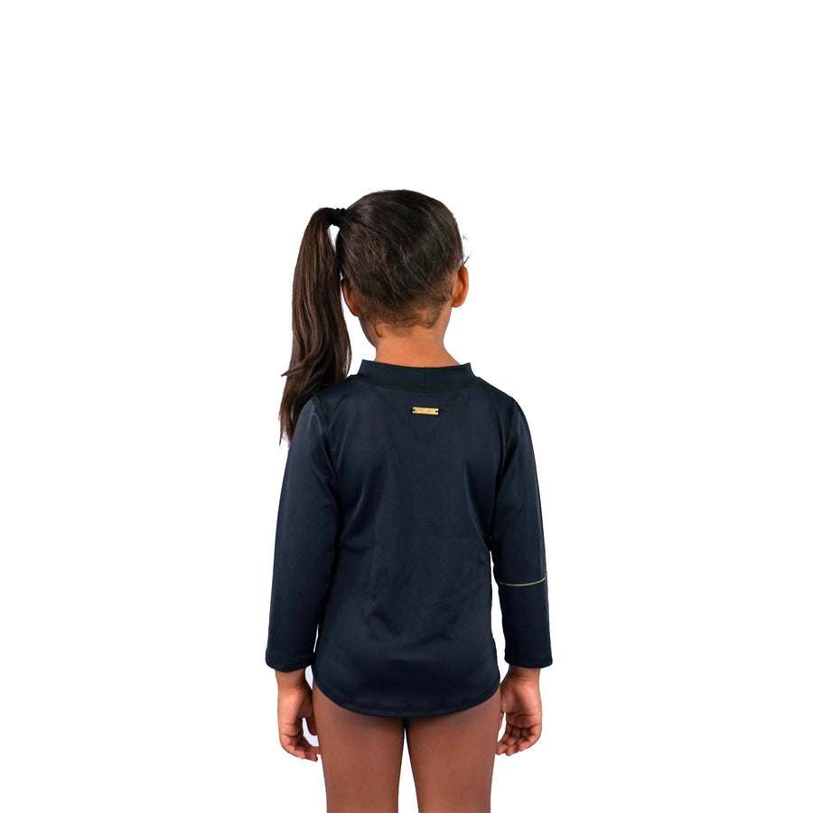 KIDS UNISEX RASHIE - BLACK / GOLD LOGO