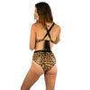 HIGH SURF BIKINI REVERSIBLE BOTTOM LEOPARD / BLACK