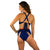 HIGH SURF BIKINI REVERSIBLE BOTTOM NAVY / DESERT SAND