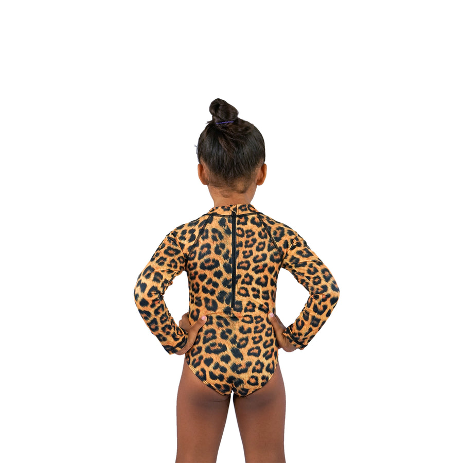 GIRLS LONG SLEEVE - LEOPARD
