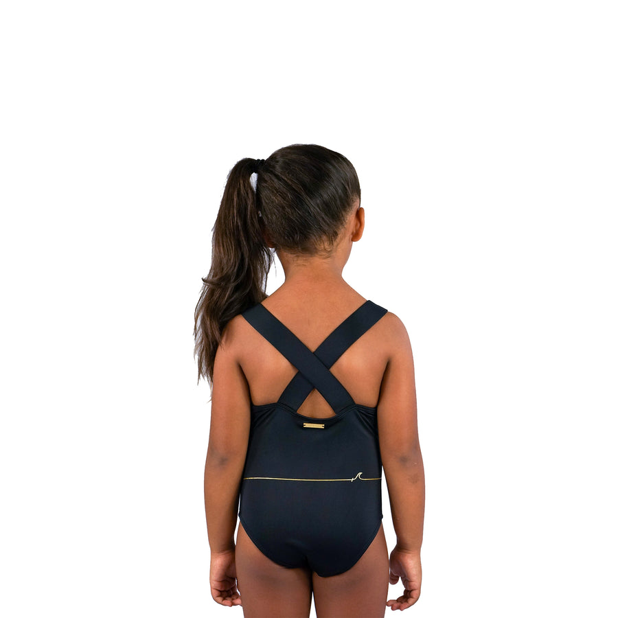GIRLS SWIMSUIT - BLACK