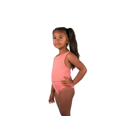 GIRLS SWIMSUIT - DUSTY PINK