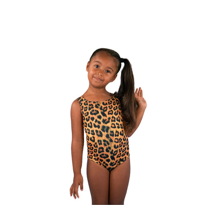 GIRLS SWIMSUIT - LEOPARD