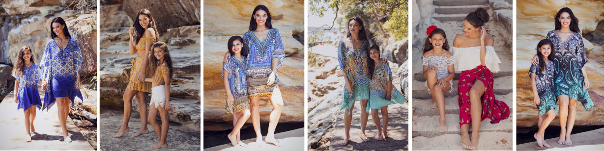sophia and co. mummy and me mini-me kaftans and summer outfits